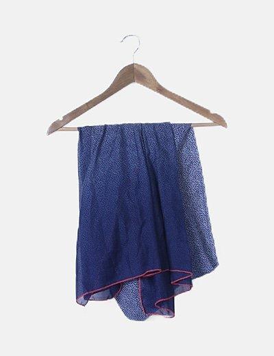 Foulard azul animal print