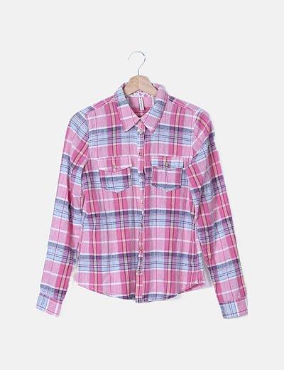 Camisa rosa de cuadros