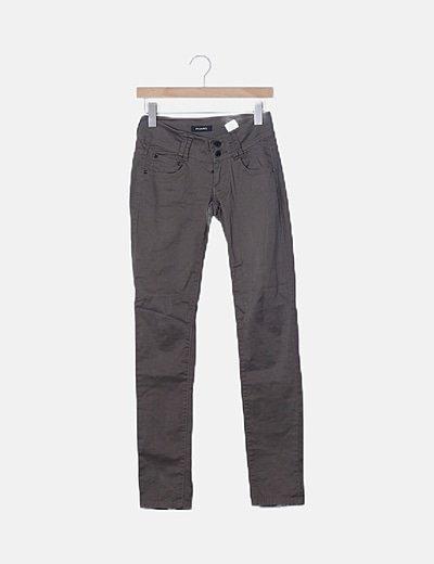 Jeans pitillos kaki