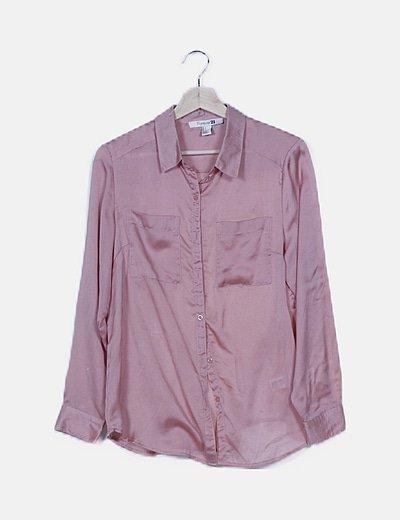 Blusa satén rosa