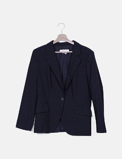 Blazer negra con bolsillos