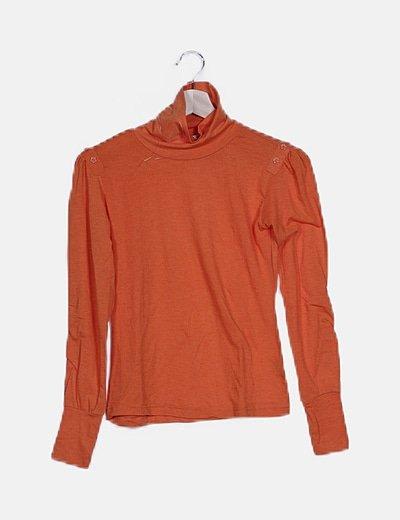 Jersey cuello vuelto naranja