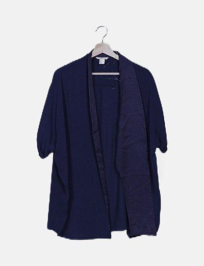 Kimono fluido azul marino