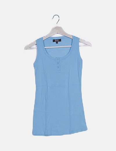Camiseta olímpica azul con botones