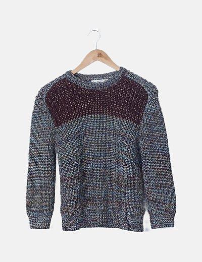 Jersey tricot glitter combinado