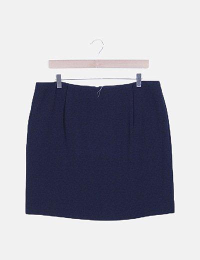 Falda midi básica azul marino