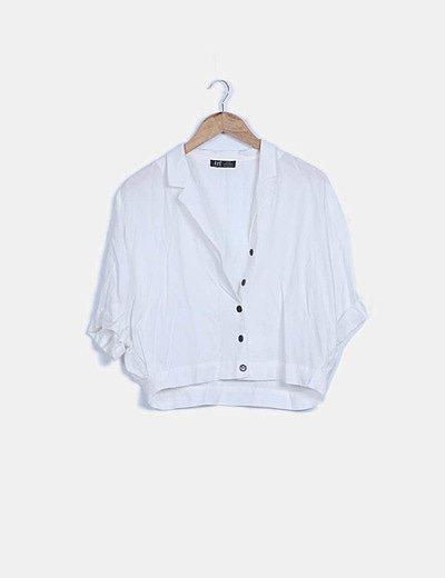 Camisa fluida blanca con botones