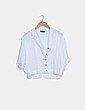 Camisa fluida blanca con botones Zara