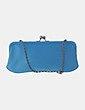 Bolso de mano azul con paillettes Chenson