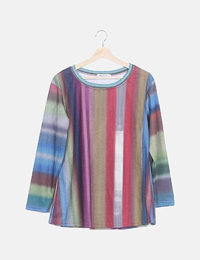 Camiseta manga larga multicolor