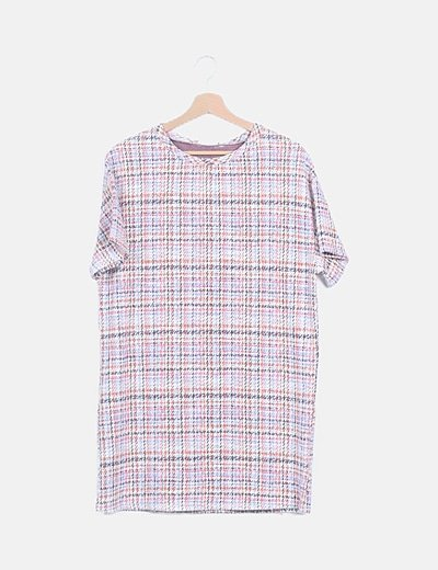 Vestido mini tweed
