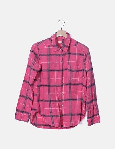 Camisa rosa cuadros