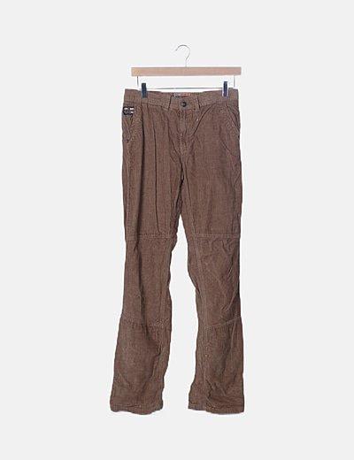 Pantalón efecto pana camel