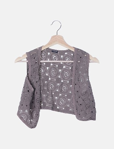 Chaleco gris crochet