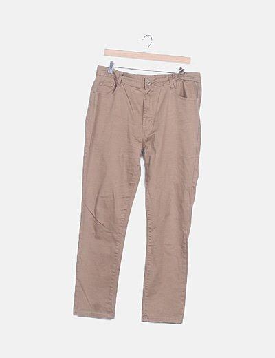 Pantalón recto camel