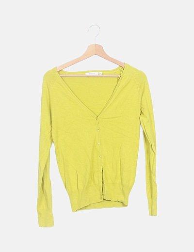 Chaqueta tricot amarilla