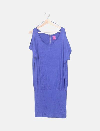 Vestido azul con elástico