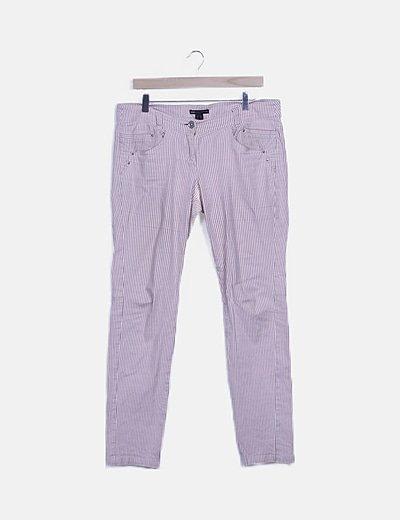 Jeans de rayas pitillos