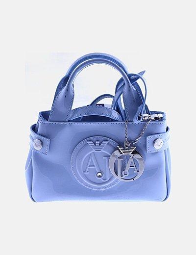 Bolso mini azul charol