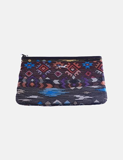 Bolso de mano étnico multicolor
