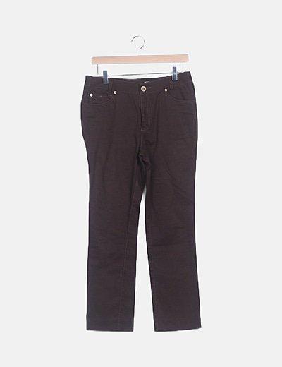 Jeans denim marrón oscuro