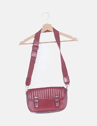 Bolso-bandolera rectangular rojo