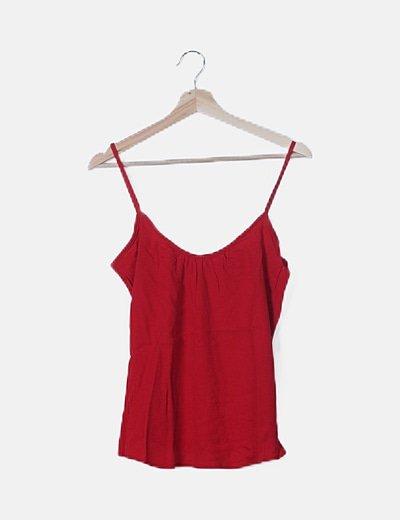 Blusa fluida roja