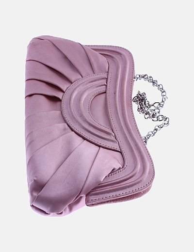 Bolso rosa satinado