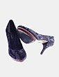Zapato tacón ante animal print Via Uno