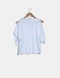 Camiseta básica blanca detalle lace up Zara