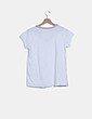 Camiseta blanca ribete glitter NoName