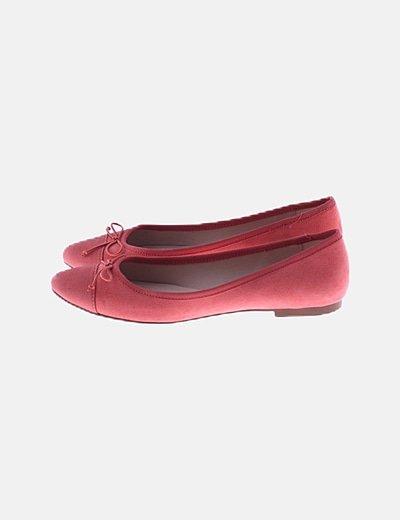 Bailarina rosa detalle lazo