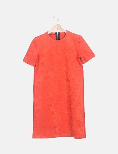 Vestido naranja antelina