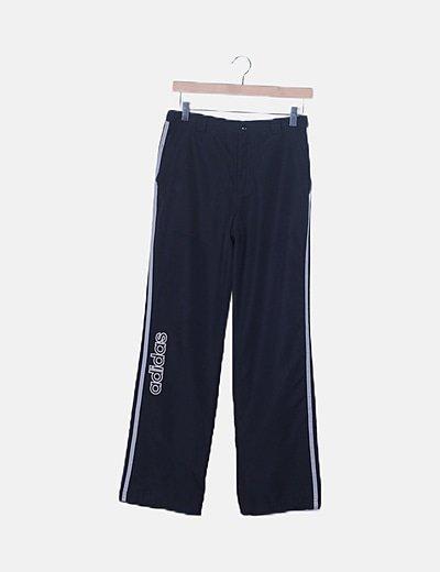 Pantalón deportivo negro raya lateral