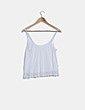 Camiseta blanca combinada crochet Springfield