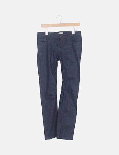 Jeans denim azul jaspeado