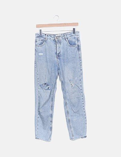 Pantalón denim ripped mom fit