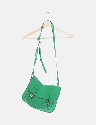 Bolso satchel verde