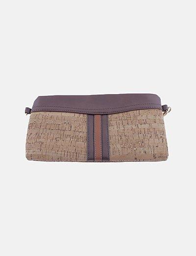 Bolso corcho marrón combinado