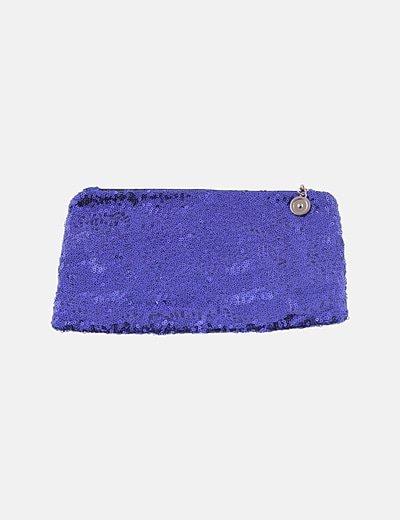 Bolso paillettes azul