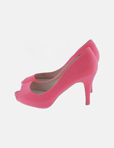 Zapato pep toe rosa