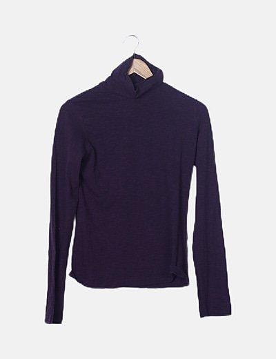 Suéter morado manga larga