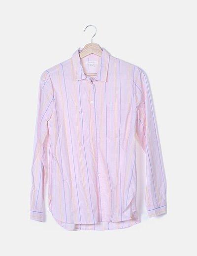 Camisa rosa rayas tricolor