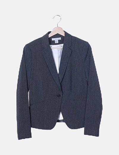 Traje blazer y pantalón gris marengo
