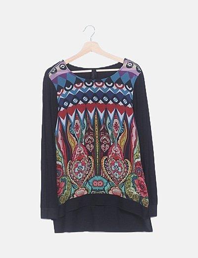 Suéter étnico multicolor