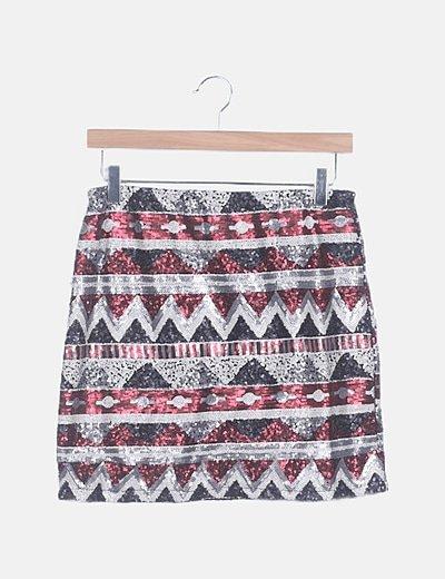 Falda mini étnica