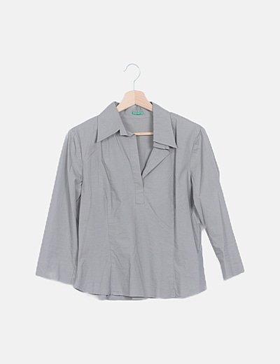 Blusa manga larga taupe