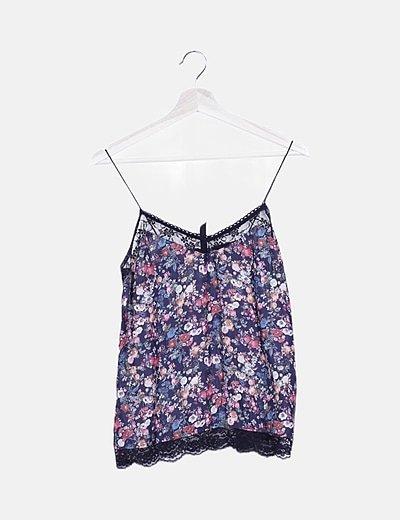 Blusa lencera floral