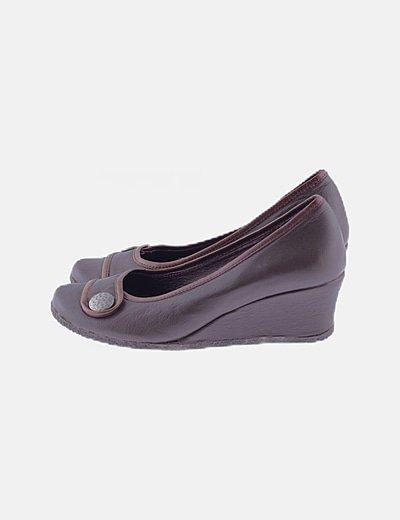 Zapatos marrón cuñas