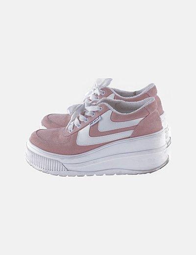 Zapatilla deportiva rosa bloque